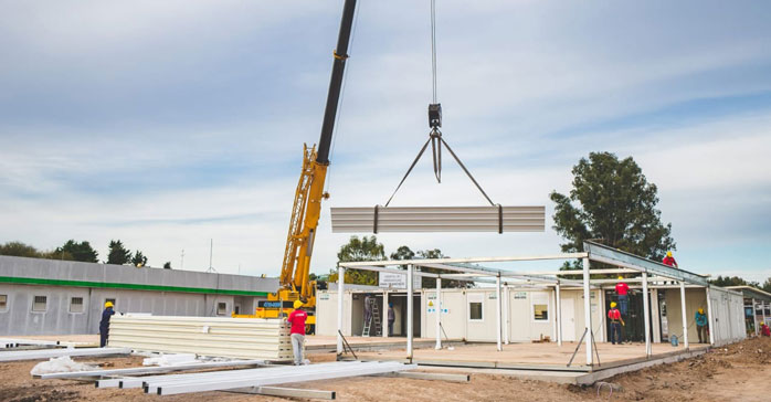 At full speed, the construction of the 11 modular hospitals to combat Covid-19 is progressing